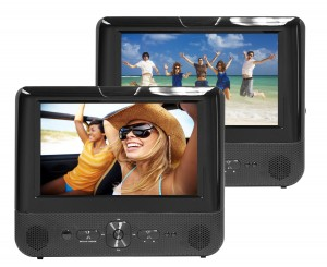 "7"" DUAL DVD DUAL SCREEN PORTABLE DVD PLAYER"