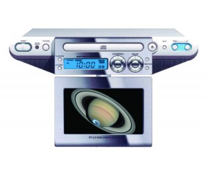 "UNDERCOUNTER 7"" TV/DVD CLOCK RADIO"