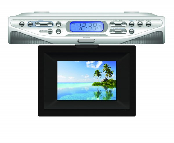 "UNDERCOUNTER 7"" TV CLOCK RADIO"